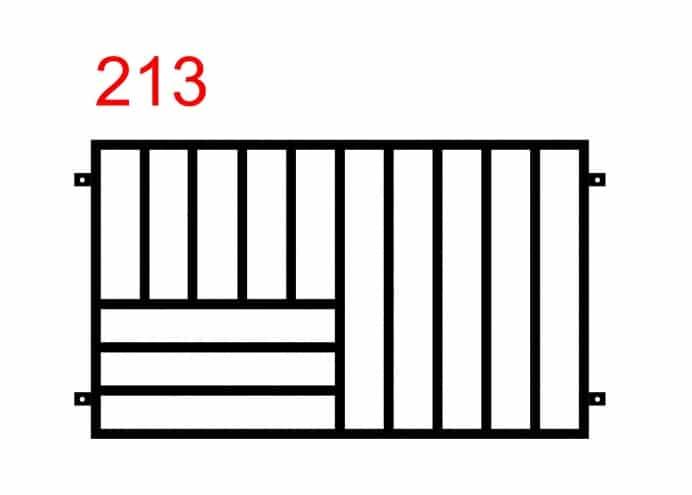 ein Zaun oder Geländer mit einem einfachen Muster in der Mitte