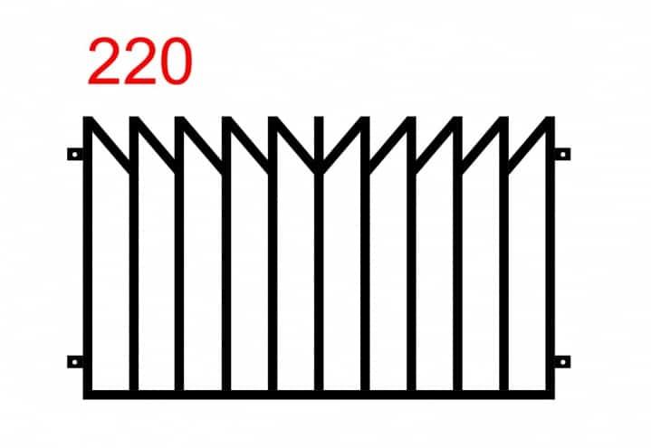 Metallzaun mit einem Muster, das einem gespiegelten Holzzaun ähnelt