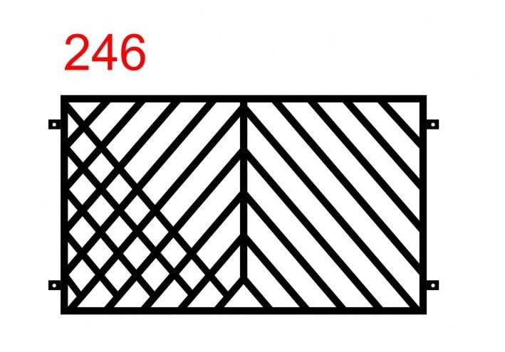 einfaches Zaundesign mit Stäben, die in einem interessanten Muster angeordnet sind