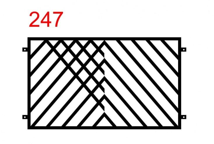einfaches Muster des Zauns aus Stäben, die in einem interessanten Muster angeordnet sind