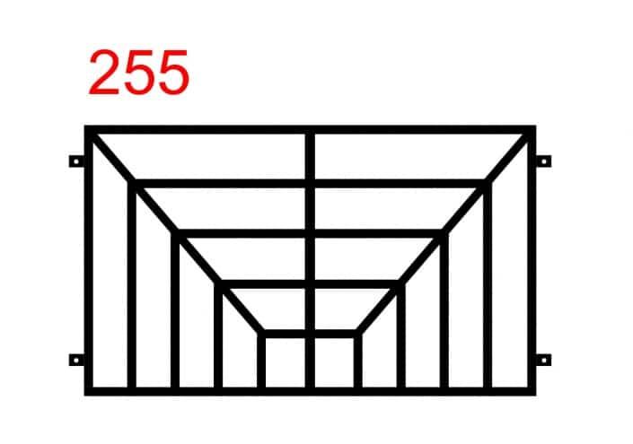räumliches Zaunmuster, das eine 3D-Illusion erzeugt