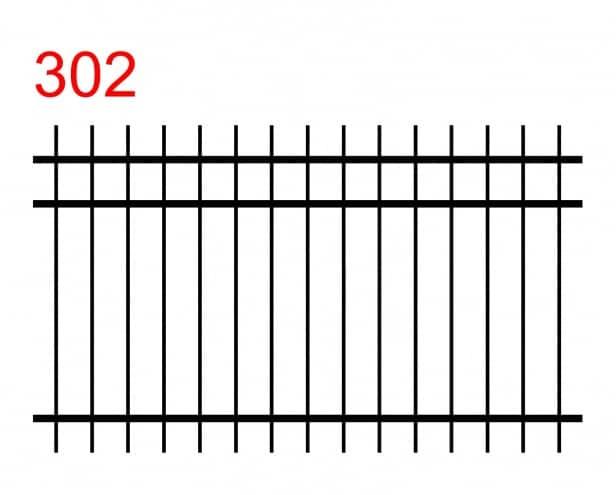 Design eines einfachen und funktionalen Zauns mit doppeltem Anschluss an der Oberseite