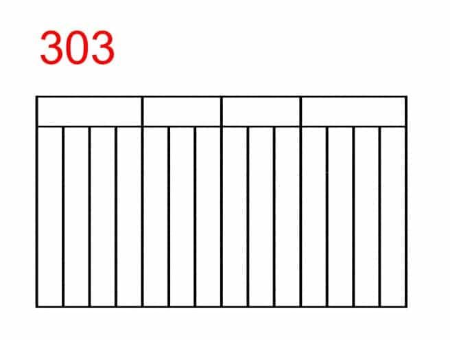 einfaches Zaunmuster mit rechteckigen Fugen