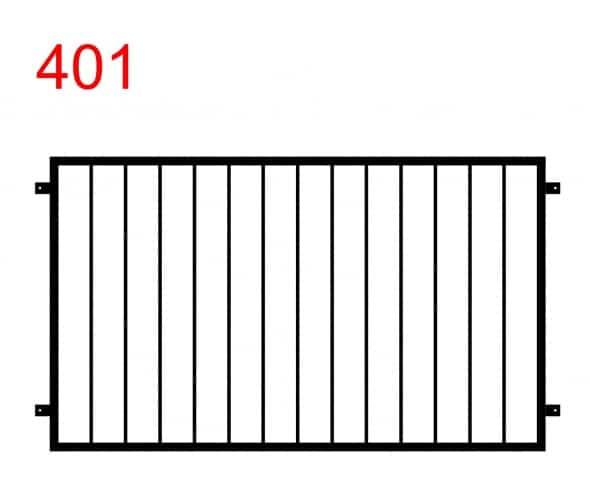Einfaches und funktionales Design für Zaun oder Geländer