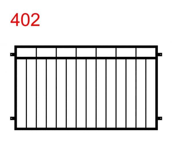 Zaun- oder Brüstungsmuster mit unterschiedlich langen Stäben