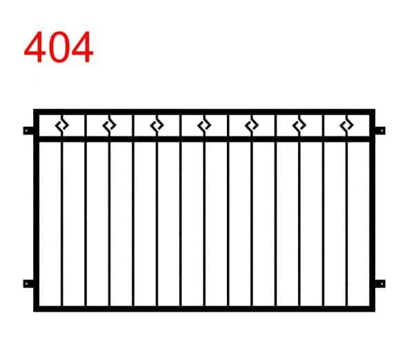 ein einfaches Muster eines Zauns oder einer Balustrade mit Stäben, die im oberen Teil in einer Raute enden