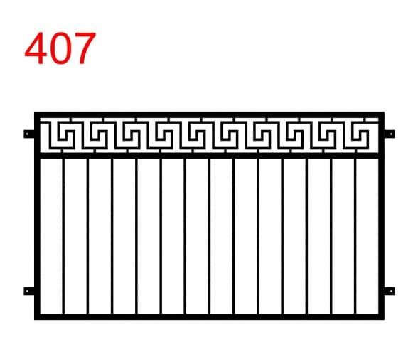 ein einfaches Muster für einen Zaun oder eine Balustrade mit einem speziellen Weg nach dem Muster der Seiten eines Labyrinths