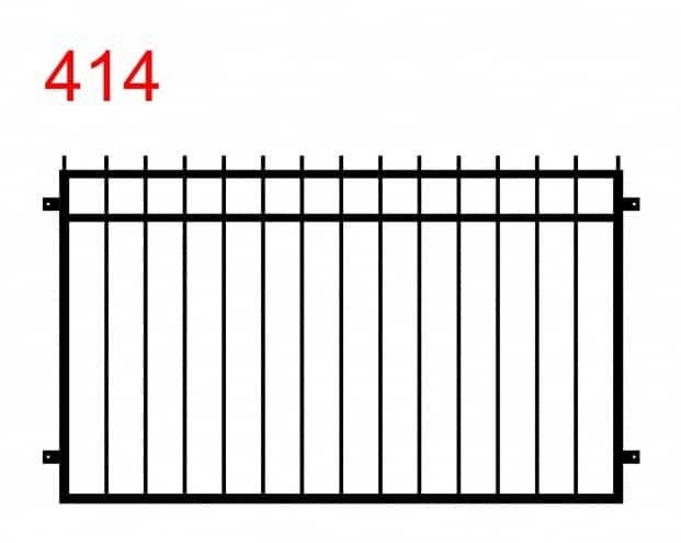 einfache Zaun- oder Brüstungsausführung mit leicht überstehenden Stäben