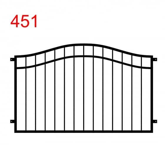 Einfaches Zaun- oder Geländerdesign mit Doppelbogen