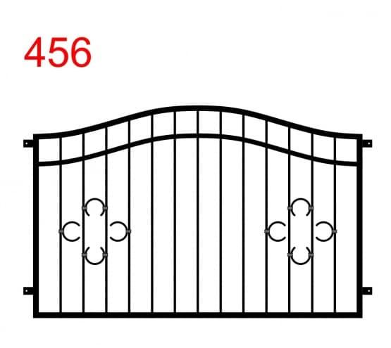 Muster eines Zauns oder einer Balustrade mit doppeltem Bogen aus einem Muster von speziell angeordneten Hufeisen an seinen beiden Enden