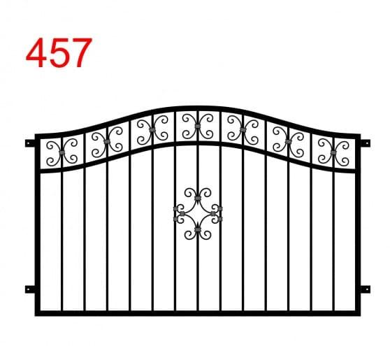 Zaun- oder Brüstungsdesign mit einem Doppelbogen mit einem schönen Muster in der Mitte und einer einfachen Dekoration zwischen dem oberen Gelenk